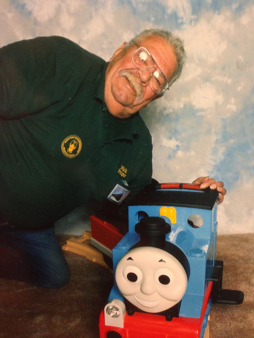Nick with Thomas the tank
